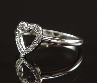 MAGICAL ESTATE TIFFANY & CO PLATINUM DIAMOND FEMININE OPEN HEART RING