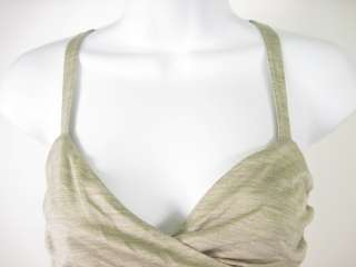 PROENZA SCHOULER Tan Silk Sleeveless Top Shirt Sz 4