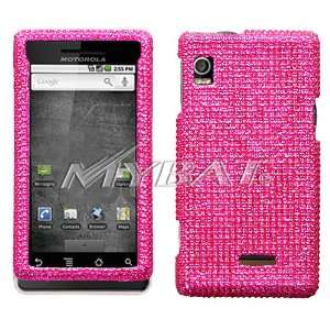 Motorola Droid A855 Full Diamond Bling Hot Pink Hard Case