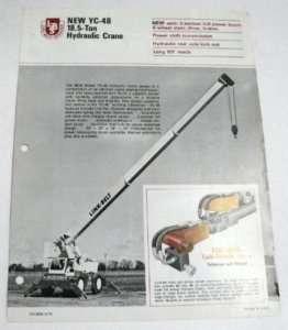 Link Belt 1971 YC 48 18 ton Crane Sales Brochure