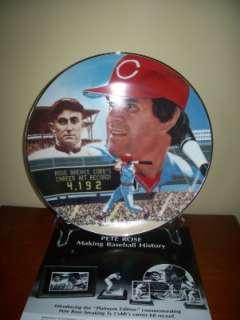 Pete Rose Cincinnati Reds 1985 Gartlan Autographed 10 Inch Plate