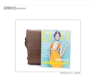 GearBAND Mens Genuine Leather Messenger Shoulder Briefcase Satchel