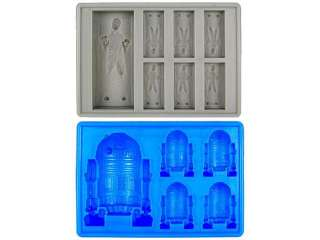 Star Wars Han Solo in Carbonite and R2 D2 Silicon IceTray Set by