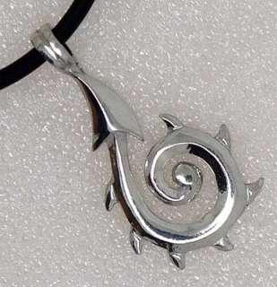 Tribal KORU Maori Spiral Macro Fern Silver Pewter Pendant/Charm/Amulet
