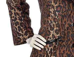 animal print quilted jacket with removeable faux mink collar 3X