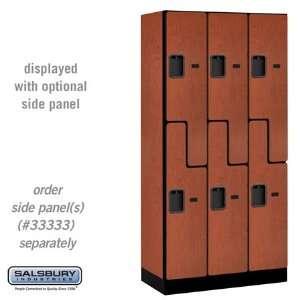 Style Wood Grain Designer Locker 3 Wide 6 Feet