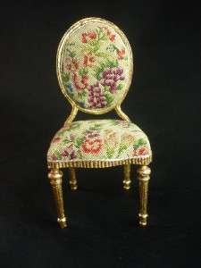 Gold Leaf Antique French Style Chair Miniature Artist Museum Quality