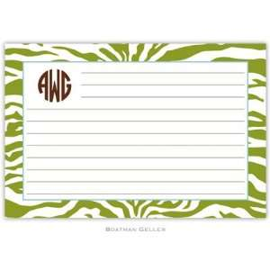 Boatman Geller   Custom Recipe Cards (Zebra)