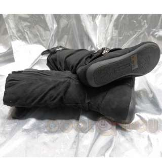 Nice Womens Fashion Casual Black Flats Boots Shoes NEW All Size KLEIN