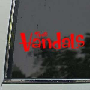 he Vandals Red Decal Punk Rock Band ruck Window Red