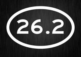 26.2 Marathon VINYL DECAL Euro Oval Car Bumper Sticker