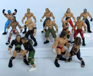 WWE WWF Wrestling 5cm Action Figures Toys 10pc Lot (Randomly Assigned