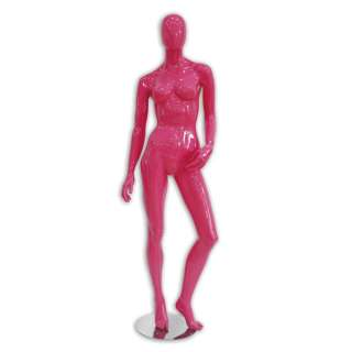 item ftf egf 2p female abstract mannequins glossy pink new our price $