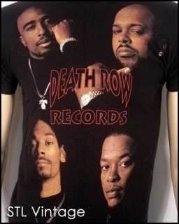 awesome 2005 DEATH ROW RECORDS T SHIRT rap hip hop TUPAC SNOOP DOGG sz