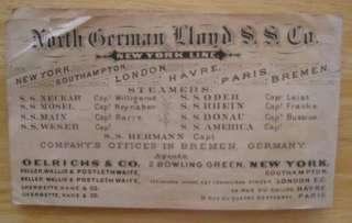MOSEL (North German Lloyd) VERY RARE c1870s DECK PLAN