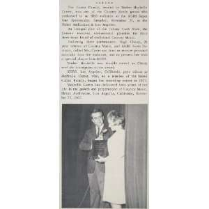 1968 Print Mother Maybelle Carter Hugh Cherry KGBS