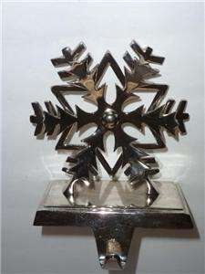 Dimensional Silver Toned Snowflake Stocking Holder