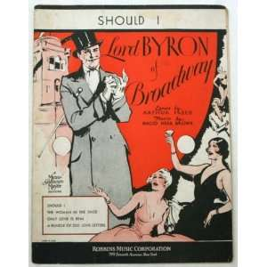 Should I, From Lord Byron of Broadway (Sheet Music