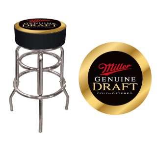Miller Genuine Draft Padded Bar Stool 30 Chrome Base 844296043491
