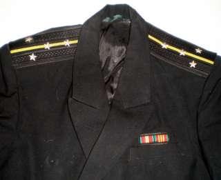 Vintage Russian Soviet Navy Officer Uniform Naval Black Jacket