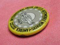 VINTAGE US 1937 UNITED AUTOMOBILE WORKERS of AMERICA UNION PIN badge