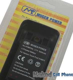 MUGEN 3200mAh EXTENDED BATTERY FOR VERIZON TOUCH PRO 2