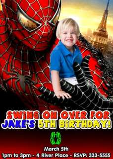 SPIDERMAN BIRTHDAY PARTY INVITATIONS & PARTY FAVORS