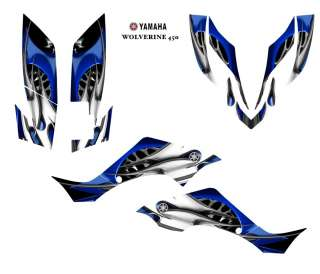 YAMAHA Wolverine 450 ATV Graphic Decal Sticker Kit #4444BLUE