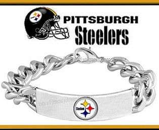 PITTSBURGH STEELERS BRACELET for MALE or FEMALE   NFL LOGO JEWELRY