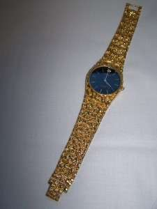 GRUEN Precision Diamond Mens Gold Plated Nugget WATCH Never Worn
