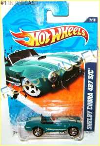 SHELBY COBRA 427 S/C HO HOOD OPENS GREEN HOT WHEELS HW DIECAST