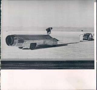 Jet Engine Racing Car Bonneville Salt Flats Utah Wire Photo