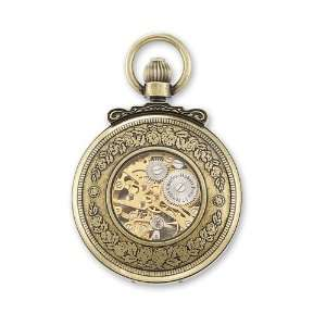 Charles Hubert Antique Gold Finish Horses Pocket Watch Jewelry