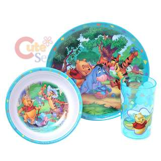 Disney Winnie Pooh & Friends 3Pc Kids Dining / Dinnerware Set Plate