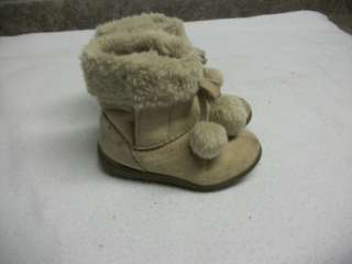 Girls Toddler Snow Winter Boots Size 8 FADED GLORY Brown Nice