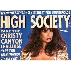 HIGH SOCIETY JANUARY 1993 CHRISTY CANYON: HIGH SOCIETY MAGAZINE: Books