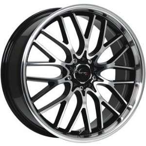 Drifz Vortex 16x7 Machined Black Wheel / Rim 5x100 & 5x4.5 with a 42mm