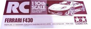 Tamiya 51201 RC Body Set Ferrari F430 1/10   Fits TT 01, TA 05, TB 02