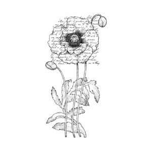 Penny Black Rubber Stamp 2.25X4 Poppy Poem