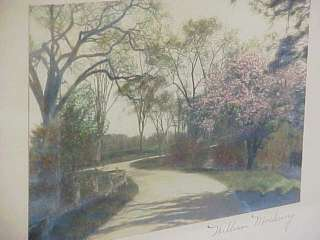 WILLIAM MOEHRING Hand Tinted Photo SPRING TAPESTRY 1920 Nutting Style