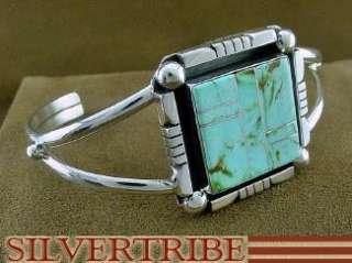 Native American Navajo Kingman Turquoise Cuff Bracelet