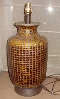 EAMES ERA CALIFORNIA POTTERY LAMP MOSAIC EARTHENWARE