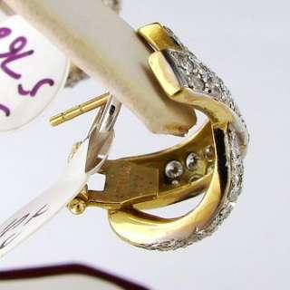 CT Diamond Earrings 14k Two Tone Gold