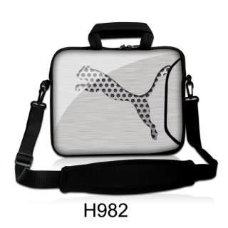Gray Tiger 15 15.5 15.6 Laptop Shoulder Case Bag Sleeve Cover with