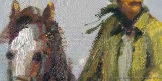 Cowboy Horse Horsemen Wild West 24X36 Oil Painting Art
