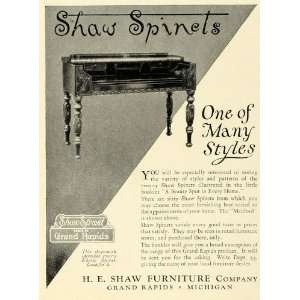 1925 Ad H E Shaw Furniture Grand Rapids Michigan Home