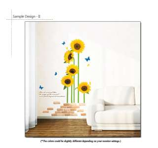 SUNFLOWER GARDEN   Wall Decor Removable Sticker Decals