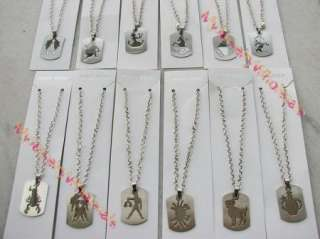 wholesale lots 12 piece 12 constellations Stainless steel Pendant