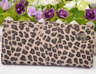 Fashion Lady Leopard Faux Leather Coin Cash ID Credit Card Purse