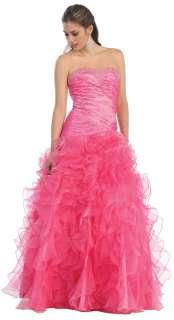 Beautiful strapless bridesmaid quinceanera dresses full length prom
